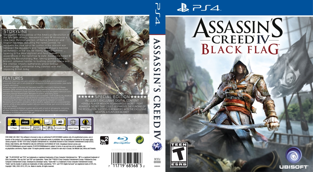 PS4 Assassins Creed IV Black Flag Artwork-1